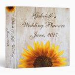 Gorgeous Custom Sunflower Country Wedding Binder