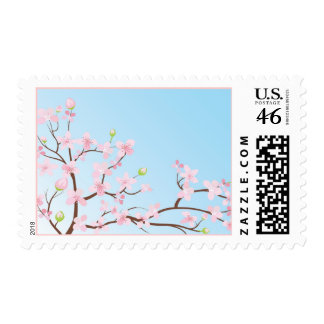 Gorgeous Customizable Pastel Cherry Blossom Postage