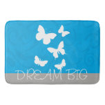 Gorgeous Cute and Stylish Blue and Gray Dream Big Bathroom Mat