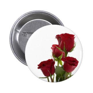 Gorgeous Dark Red Rose Design Pin