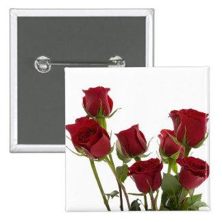 Gorgeous Dark Red Rose Design Button