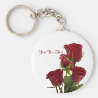 Gorgeous Dark Red Rose Design Keychains