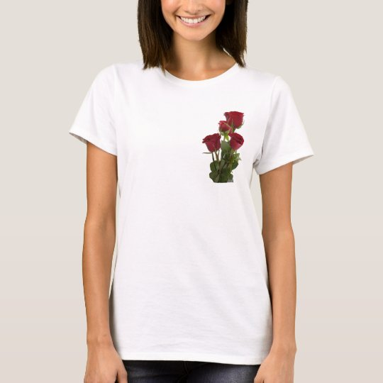 Gorgeous Dark Red Rose Design T-Shirt