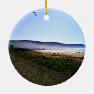 Gorgeous Day in Crescent City Beach, California Ceramic Ornament