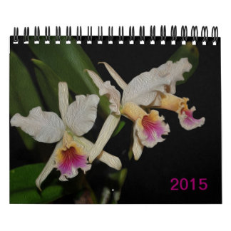 Gorgeous exotic orchid flowers 2015 calendar