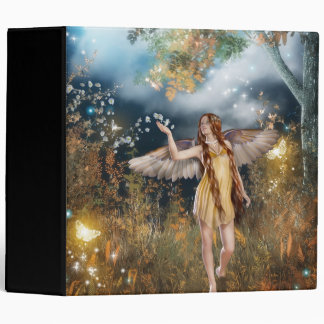 Gorgeous fairy taking a stroll in the moonlight. vinyl binder