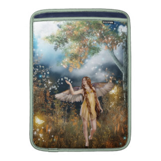 Gorgeous fairy taking a stroll in the moonlight. sleeve for MacBook air