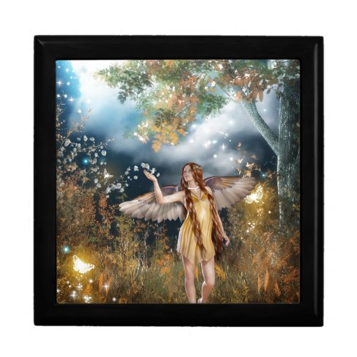 Gorgeous fairy taking a stroll in the moonlight. trinket boxes