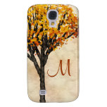 Gorgeous Fall Autumn Tree Monogram Initial Samsung Galaxy S4 Cover