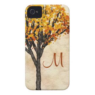 Gorgeous Fall Autumn Tree Monogram Initial iPhone 4 Case-Mate Case