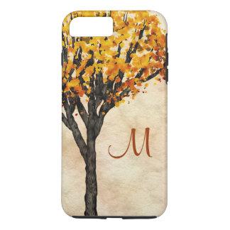 Gorgeous Fall Autumn Tree Monogram Initial iPhone 7 Plus Case