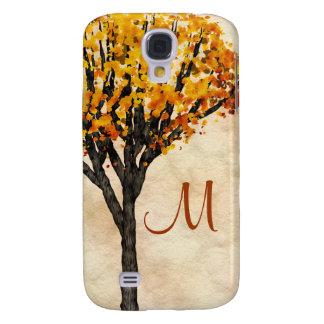 Gorgeous Fall Autumn Tree Monogram Initial Samsung Galaxy S4 Cover
