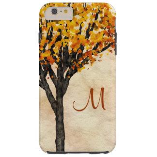 Gorgeous Fall Autumn Tree Monogram Initial Tough iPhone 6 Plus Case