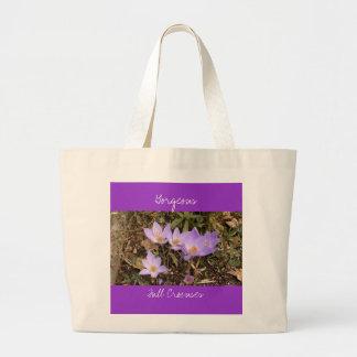 Gorgeous Fall Crocuses Large Tote Bag
