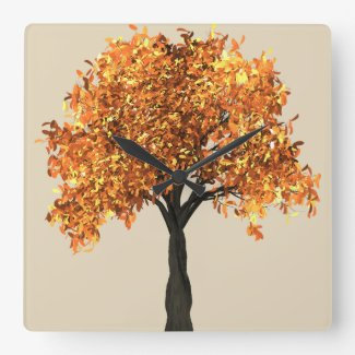 Gorgeous Fall Tree Design Wall Clock