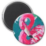 Gorgeous Flamingo Bird Tropical    Art Print Magnets