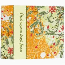 Gorgeous Floral Avery Custom Binder Orange