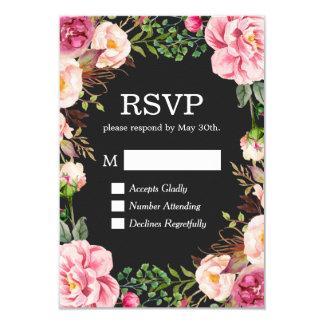 Gorgeous Floral Decor RSVP Respond Card