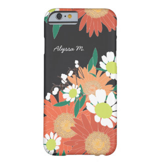 Gorgeous Floral Pattern Personalized iPhone 6/6s Barely There iPhone 6 Case