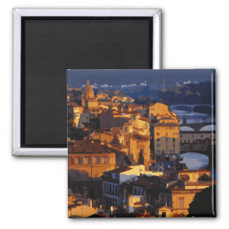 Gorgeous Florence Italy Sunset Scene Magnets