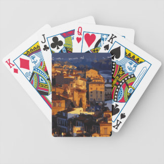 Gorgeous Florence Italy Sunset Scene Poker Deck