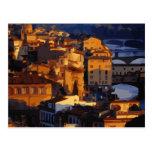 Gorgeous Florence Italy Sunset Scene Postcard