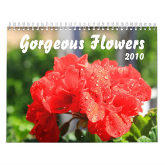 Gorgeous Flowers Calendar