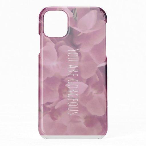 Gorgeous flowers uncommon  iPhone 11 case