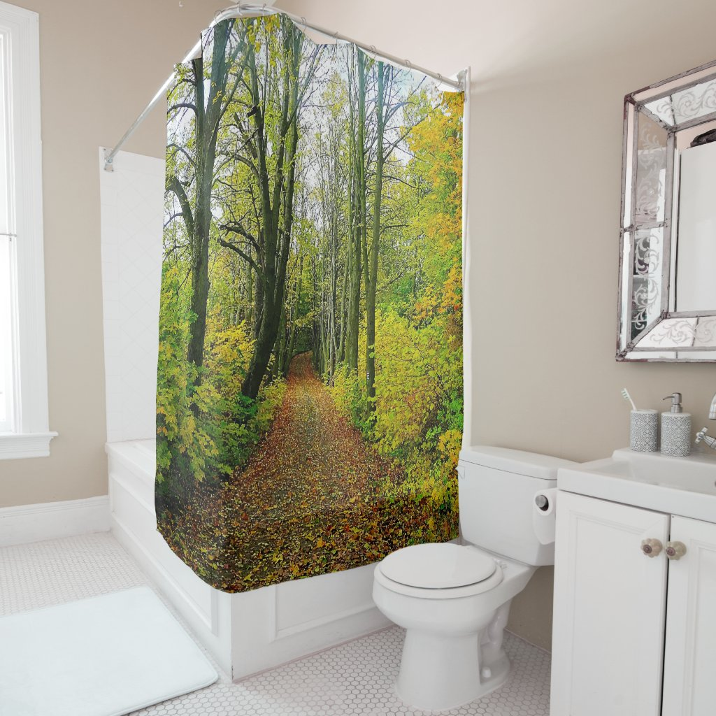 Forest Road Picture Shower Curtain