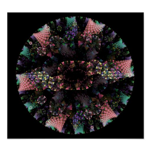 Gorgeous Fractal Circle Posters