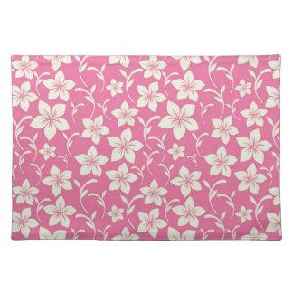 Gorgeous Fuscia Pink Floral Cloth Placemat