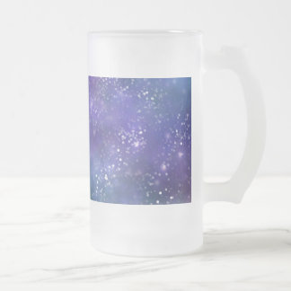 Gorgeous Galaxy Frosted Glass Beer Mug
