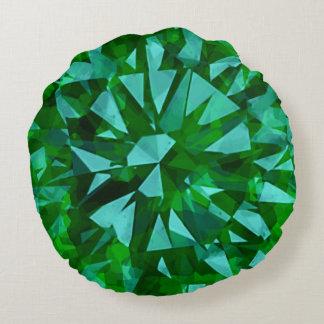 Gorgeous Gem Green Round Pillow