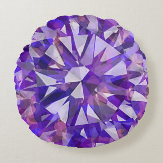Gorgeous Gem Purples Round Pillow