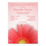 "Gorgeous Gerbera Birthday Invitation 5"" X 7"" Invitation Card"