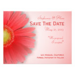 Gorgeous Gerbera Save The Date Card Custom Announcements