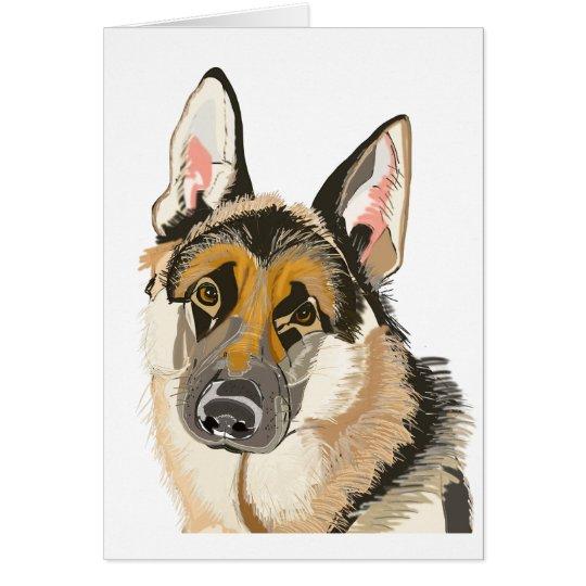 Gorgeous German Shepherd Alsation Dog Drawing Zazzlecom - German-shepherd-drawings