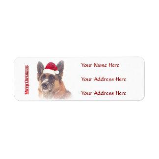 Gorgeous German Shepherd Holiday Address Labels