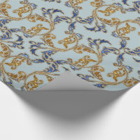 Gorgeous Glitter Damask Wrapping Paper