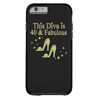 GORGEOUS GOLD 40 AND FABULOUS DESIGN TOUGH iPhone 6 CASE