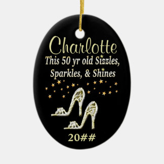 GORGEOUS GOLD 50TH BIRTHDAY DATED ORNAMENT