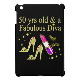 GORGEOUS GOLD 50TH BIRTHDAY DIVA DESIGN CASE FOR THE iPad MINI