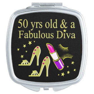 GORGEOUS GOLD 50TH BIRTHDAY DIVA DESIGN VANITY MIRROR