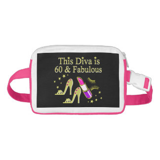 GORGEOUS GOLD 60TH BIRTHDAY HIGH HEEL DESIGN FANNY PACK