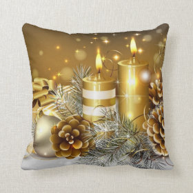 Gorgeous Gold Christmas Cards, Gifts Pillows