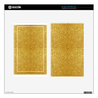 Gorgeous Gold Kindle Fire Decals