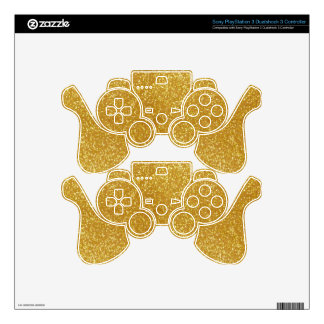 Gorgeous Gold PS3 Controller Skin