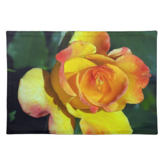 Gorgeous Golden Glowing Rose Place-mats Placemat