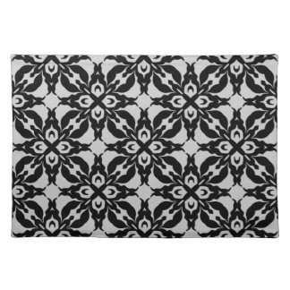 Gorgeous goth damask pattern placemat
