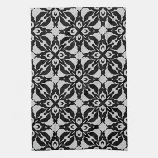 Gorgeous goth damask pattern towels